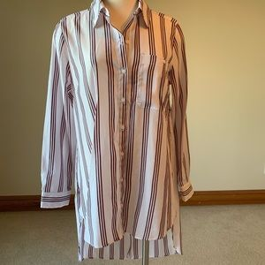 New York and company striped tunic